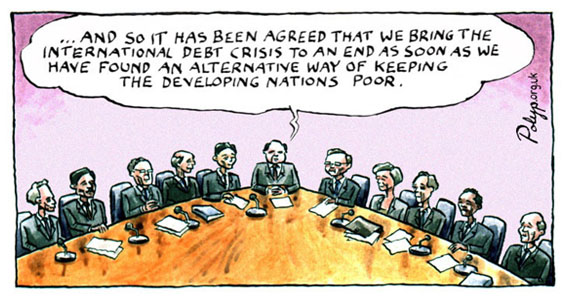 Cartoons About Aid And Trade Issues